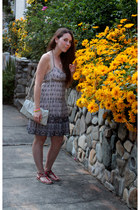 a-shape American Eagle dress - snakeskin Redmond purse - Gap sandals
