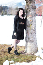 black embellished eShakti dress