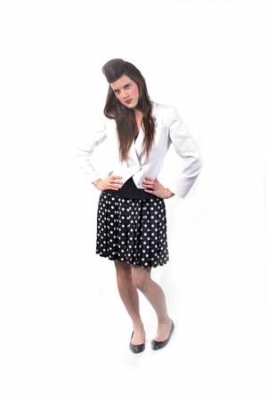 Expressions blazer - Vis-A-Vis skirt - black patent new look flats - vest