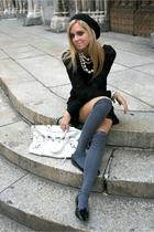 necklace - dress - socks - purse - hat
