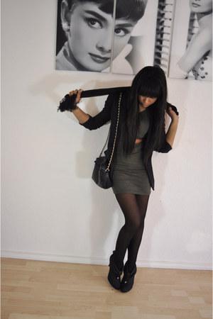 asos boots - asos dress - Zara blazer - Ralph Lauren scarf - Primark bag - Zara
