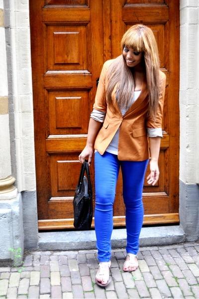 J Brand jeans - Bershka blazer - Mulberry Vontange bag - Vero Moda top