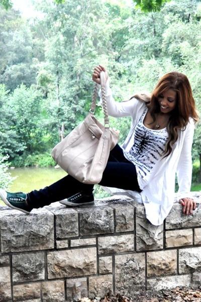 Converse shoes - asos jeans - Dorothy Perkins bag - asos cardigan
