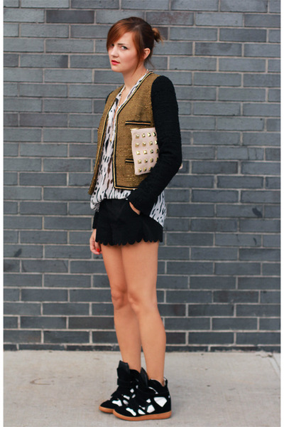 Mango blazer - asos bag - Isabel Marant sneakers