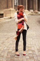 H&M scarf - Zara heels