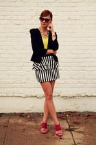 Zara heels - Forever 21 blazer - H&M necklace