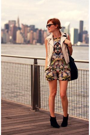 Zara bodysuit - Zara boots - H&M vest