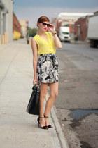 H&M blouse - Michael Kors watch - Zara skirt - asos bracelet