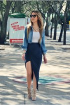 Hot Miami Styles skirt - Guess jacket - Hot Miami Styles sandals