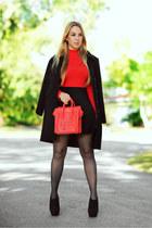 Celine bag - OASAP coat - Hot Miami Styles bodysuit
