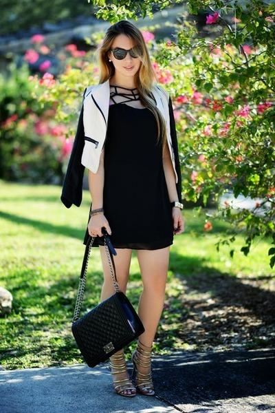 Hot Miami Styles dress - Sheinsidecom jacket - Chanel bag