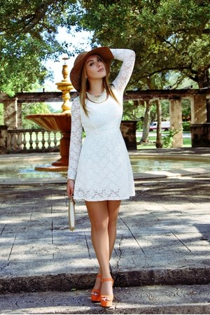 handmade hat - American Apparel dress - Steve Madden sandals