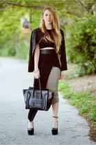 Charlotte Russe blazer - Celine bag - Hot Miami Styles skirt