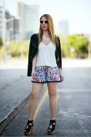 Charlotte Russe jacket - Hot Miami Styles shorts - Celine sunglasses