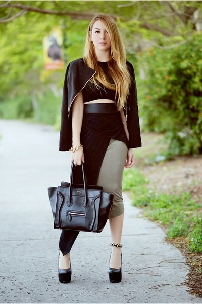 Hot Miami Styles skirt - Charlotte Russe blazer - Celine bag