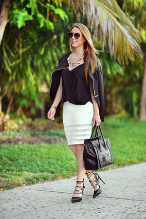 Celine bag - Miu Miu sunglasses - Hot Miami Styles skirt