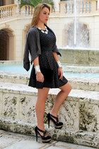 banana republic jacket - Miss Sixty dress - BLVD Shoes heels
