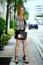Hot Miami Styles blazer - Chanel bag - Ray Ban sunglasses