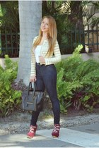 Hot Miami Styles jacket - Zara shirt - Celine bag