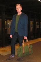 navy Cheap Monday jeans - brown Aldo shoes - navy H&M blazer