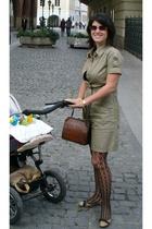 Vero Moda dress - tights - purse