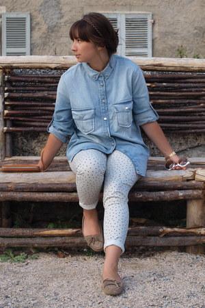 Mango shirt - Naf Naf pants - asos flats
