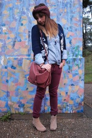 Naf Naf boots - shirt - sessun bag - vest - Insight pants