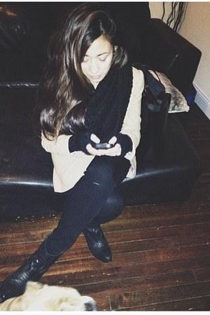 Zara boots - H&M coat
