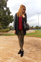 Zara boots - Stradivarius sweater - Zara pants