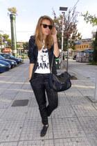 Zara flats - H&M pants - Zara necklace