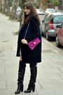 Black-over-knee-kurt-geiger-boots-stripyshort-h-m-dress