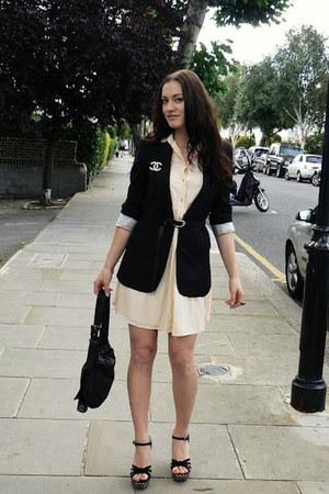 Zara dress - D&G jacket - Kurt Geiger sandals - Chanel vintag accessories