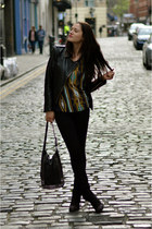 black ankle Topshop boots - black skinny Levis jeans