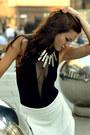 Black-mesh-h-m-trend-bodysuit-white-skort-zara-skirt