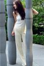 Off-white-oversized-zara-jacket-ivory-wide-leg-alberta-ferretti-pants