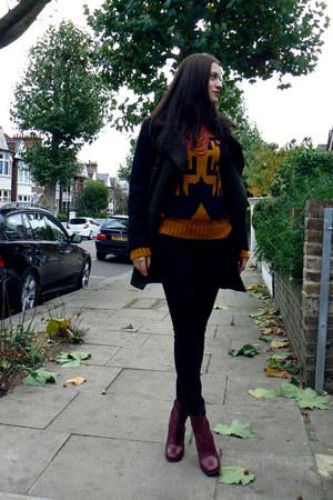 crimson River Island boots - black Mango coat - black Lee jeans