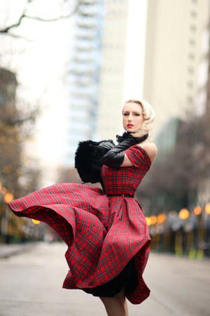 red tartan The Pretty Dress Company dress