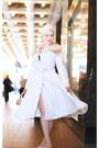 White-the-pretty-dress-company-coat-beige-unique-vintage-heels