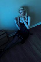 black corset Orchard Corset intimate - black ankle strap Charlotte Russe heels