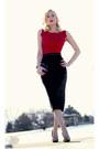Ruby-red-worn-as-a-shirt-oasap-dress-black-clutch-oasap-bag