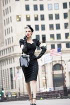black unique vintage bag - peplum Stop Staring dress