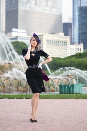 black polka dot Miss Candyfloss dress