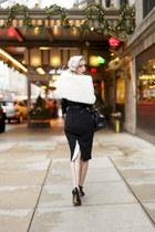 black polka dot Miss Candyfloss dress - white polka dot Miss Candyfloss hat