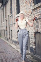 ivory unique vintage blouse - heather gray Atelier Jensen pants