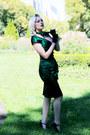 Dark-green-pencil-voodoo-vixen-dress-dark-green-nylon-vintage-scarf