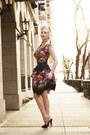 Black-floral-heart-of-haute-dress-black-mules-flirty-lingerie-heels