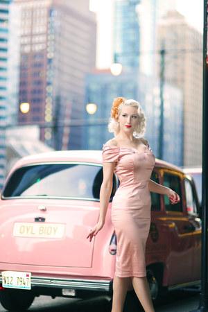 pink satin The Pretty Dress Company dress