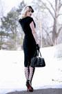 Black-patent-leather-oasap-shoes-black-pencil-bettie-page-dress