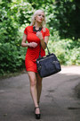 Red-bodycon-chicnova-dress-black-gold-zipper-olivia-joy-bag