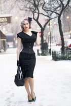 black old bag - nude polka dot silkies stockings
